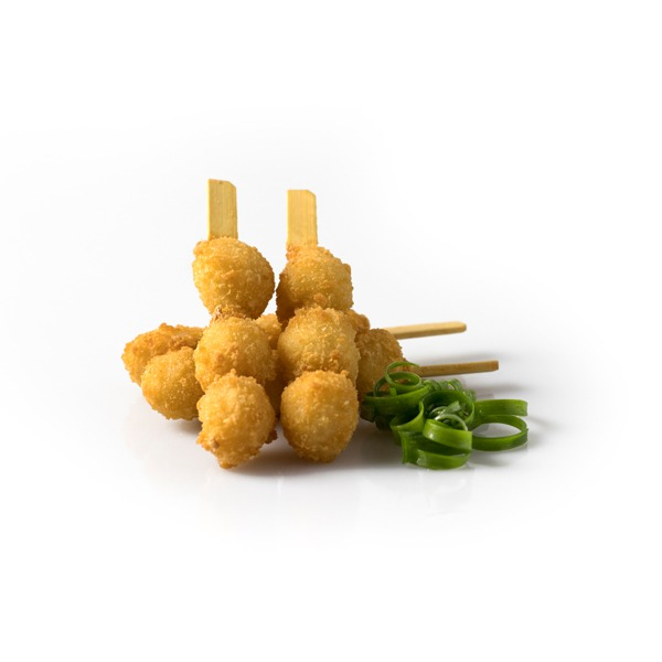 Crumbed Bay Scallop Skewers
